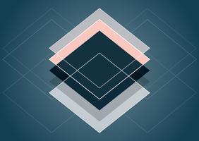 Design de style abstrait scandinave vecteur