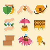 sauver la population décroissante d'abeilles mellifères vecteur