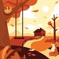 concept de saison d'automne vecteur