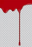 Sang ou sirop de fraise ou ketchup sur fond transparent. Illustration vectorielle vecteur