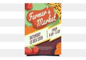 flyer design marché de producteurs