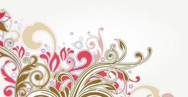 fond de batik floral luxueux. illustration de boucles de décoration florale. éléments de motif paisley dessinés à la main. ornement vintage, motif. vecteur