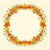 concept de frontière de belles feuilles d'automne vecteur