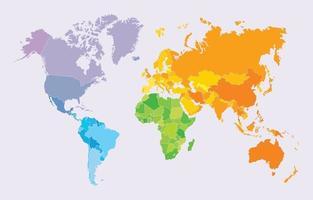 carte du monde colorée vecteur