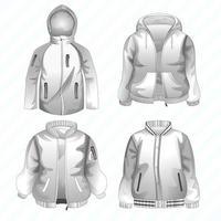 modèle de veste cool vecteur