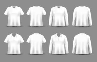 maquette réaliste de vêtements vecteur