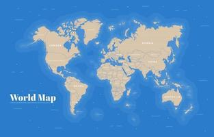 concept de carte du monde vecteur