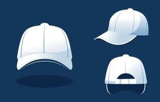modèle de chapeau de camionneur vecteur