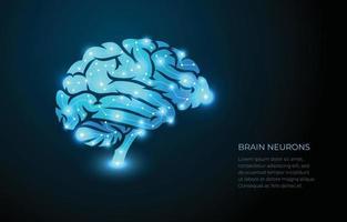 concept de neurones du cerveau vecteur