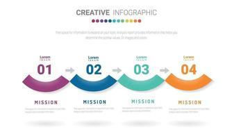 l'infographie tout au long du mois la conception et la présentation du planificateur peuvent être utilisées pour le concept d'entreprise avec 12 options vecteur