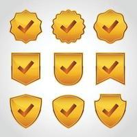 badge vérifié avec collections de coches vecteur