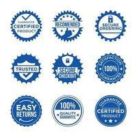 collection de timbres de certificat de confiance vecteur