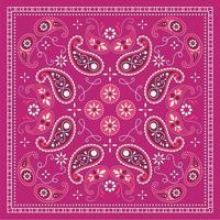 bandana foulard cachemire vecteur
