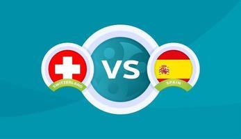 Suisse vs Espagne match illustration vectorielle championnat de football 2020 vecteur