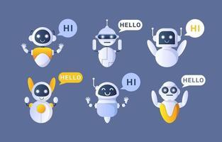 collection de concepts de chatbot vecteur
