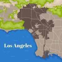 carte de Los Angeles vecteur