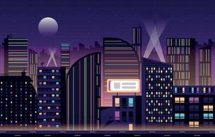 fond de paysage urbain de nuit vecteur