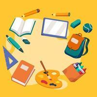 éléments de fournitures scolaires vecteur