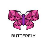 papillon avec un design de style polygone vecteur