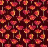 motif de fleurs florales. fond de tulipe fleur. s'épanouir fleurir jardin d'ornement vecteur