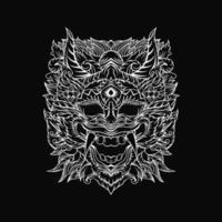conception de visage de diable vecteur
