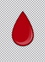 Sang ou sirop de fraise ou ketchup sur fond transparent. Illustration vectorielle