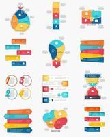 collection de modèles d'infographie pour l'illustration vectorielle d'affaires vecteur