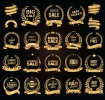 Illustration vectorielle de luxe étiquettes blanches collection