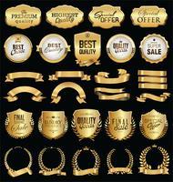 badges vintage rétro illustration vectorielle collection doré