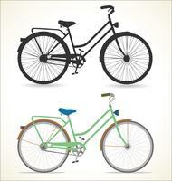 Vélo vintage rétro isolé sur fond blanc vecteur