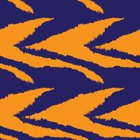 modèle sans couture de fourrure de coup de pinceau orange vecteur