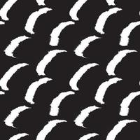modèle sans couture de fourrure de coup de pinceau noir et blanc vecteur