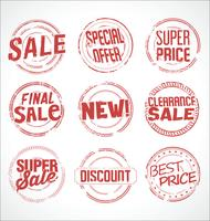 Collection de vecteurs super vente de timbres en caoutchouc grunge vecteur