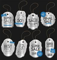 Collection de vecteurs Design Vintage Style Sale Tags vecteur