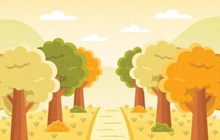 paysage en automne vecteur