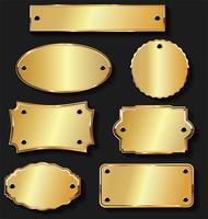 Collection de design vintage rétro des étiquettes de vente d'or et d'argent vecteur