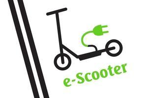 parking scooter - parking balisé pour scooters. signe de scooter. vecteur