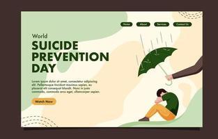 page de destination de la journée de prévention du suicide vecteur
