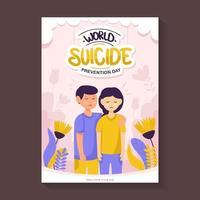 affiche mondiale de prévention du suicide vecteur