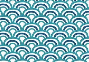 Fond de vagues japonaises Doodle vecteur
