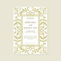 Modèle de vecteur de carte invitation de mariage