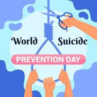 conception d'affiche pour la journée mondiale de la prévention du suicide vecteur