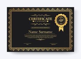 modèle de certificat de réussite classique vecteur