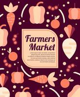 flyer design marché de producteurs vecteur