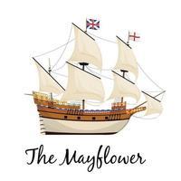 le bateau fleur de mai vecteur