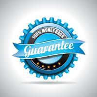 Illustration d'étiquettes de garantie de vecteur