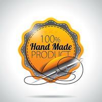 Illustration vectorielle d'étiquettes de produits fabriqués à la main