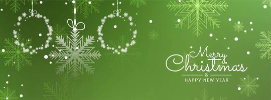 Modèle de bannière décoratif abstrait joyeux Noël vecteur