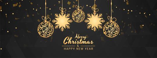 Modèle de bannière élégante abstrait joyeux Noël vecteur