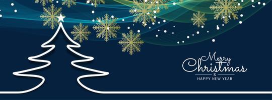 Modèle de bannière abstrait joyeux Noël vecteur